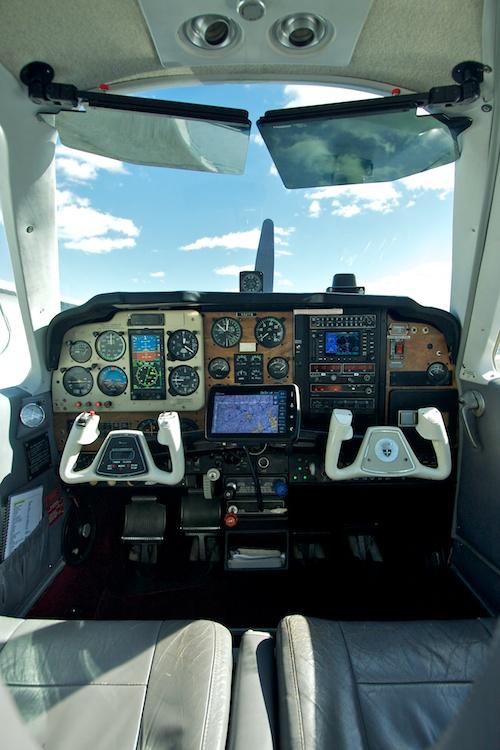 N321TB cockpit